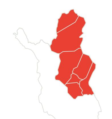 Pohjoisimman Lapin Leader ry:n toiminta-alue